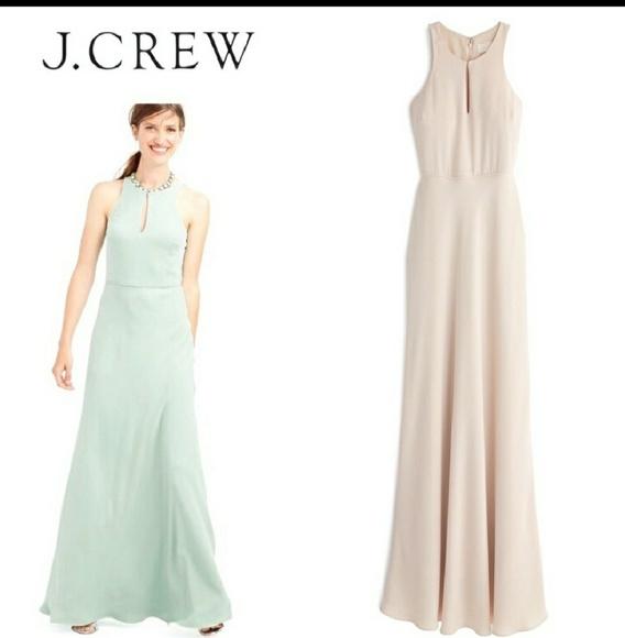 J. Crew Dresses | J Crew Long Evening Dress Blush | Poshmark